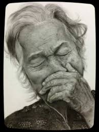 old woman cry